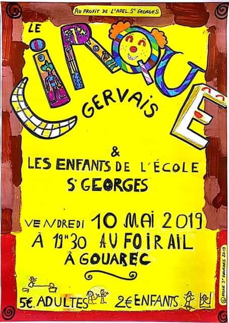 Création de l'affiche pour le cirque