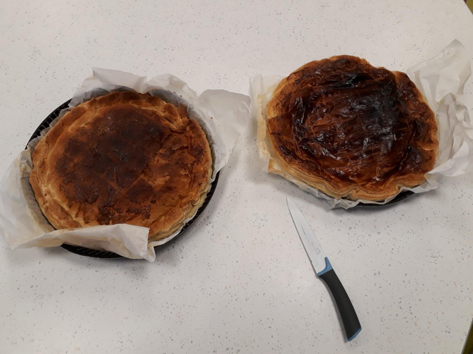 Confection et dégustation de la galette des rois